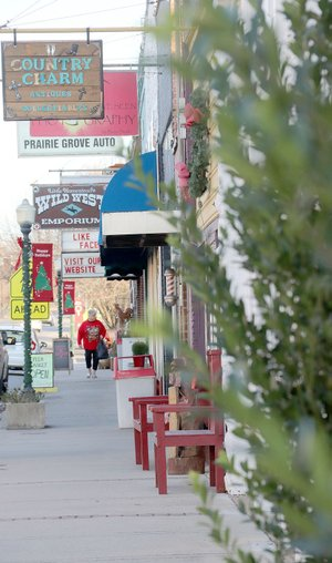 LYNN KUTTER ENTERPRISE-LEADER The city of Prairie Grove and Prairie Grove Chamber of Commerce have decided to move forward in applying to be a part of the Arkansas Main Street program.