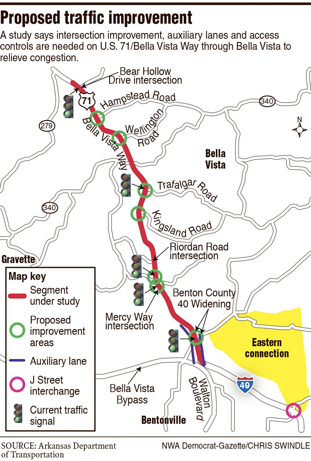 Study Looks At Bella Vista Traffic Woes - Us-highway-71-map