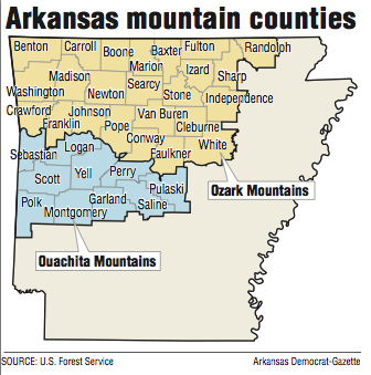 Ouachitas overlooked in state lore, films; Ozarks get all ...