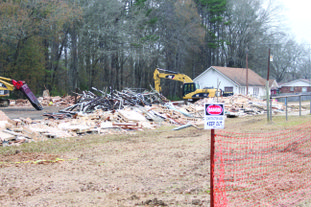 Demolition: ERC General Contractors has begun the demolition process of the old gym, located near the high school campus.