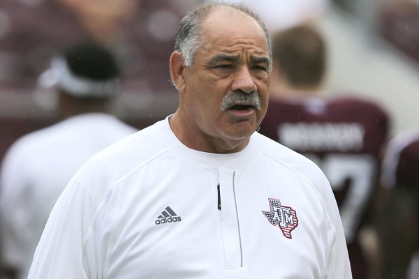 Texas A&M defensive coordinator John Chavis is shown before the start of an NCAA college football game against Prairie View A&M Saturday, Sept. 10, 2016, in College Station, Texas. Texas A&M won 67-0.(AP Photo/Sam Craft)