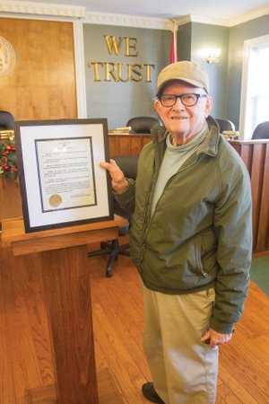 Victor Weber, operator of the Rialto Theater in Searcy, was honored by the city of Searcy, proclaiming Dec. 29 as Victor Weber Day. Weber took over the Rialto in early 1994 and ran it through the end of 2017, completing his more than 50 years in the movie-theater business.