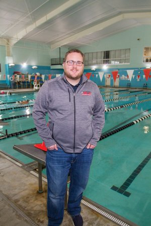 Steve Frye, acquatics director for the Cabot Parks and Recreation Department, stands beside the pool at the Veterans Park Community Center. Frye has been on the job since March 2017.