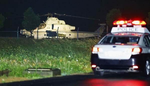 USA helicopter forced to land on small island in Okinawa