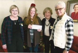 Photosubmitted P.E.O. Chapter BL in Bella Vista recently awarded a Program for Continuing Education grant to Rachael Phillips of Pea Ridge. Phillips is attending Northwest Arkansas Community College majoring in Early Childhood. Pictured are Mary Solliday (from left), Chapter BL president; Phillips; Colene Butler, Chapter BL corresponding secretary; and Julie Amos, Chapter BL PCE chairman.