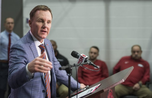 arkansas-coach-chad-morris-speaks-wednesday-jan-10-2018-during-a-press-conference-to-introduce-new-assistant-coaches-at-the-fred-w-smith-football-center-in-fayetteville