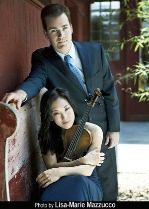Organist Ken Cowan and violinist Lisa Shihoten perform Friday at Little Rock's Christ Episcopal Church.