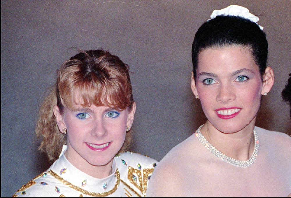 Tonya Harding, (left), and Olympic rival Nancy Kerrigan ...