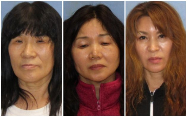 from-left-un-suk-mckruit-kim-kyung-soon-and-ji-ryang-yu-are-shown-in-these-booking-photos-from-the-pulaski-county-sheriffs-office