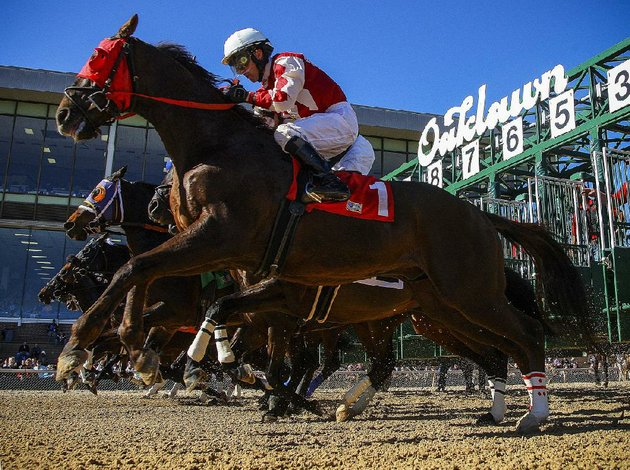 the-57-day-live-racing-season-at-oaklawn-park-in-hot-springs-begins-today-opening-day-will-feature-the-125000-fifth-season-stakes-which-will-include-6-year-old-far-right-who-ran-second-to-triple-crown-winner-american-pharoah-in-the-2015-arkansas-derby