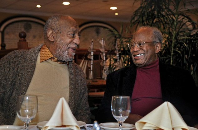 Bill Bill Cosby left has dinner with childhood friend Ed Ford at an Italian restaurant in Philadelphia