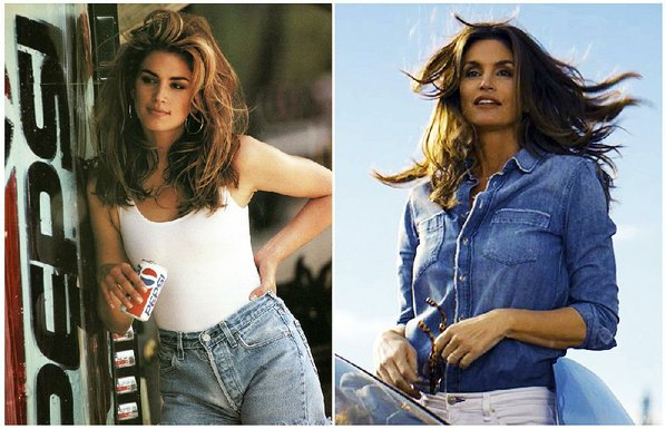 Cindy Crawford drinks Pepsi once again - with her son
