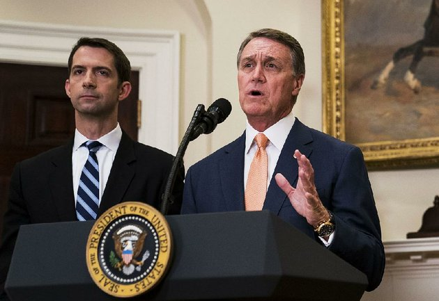 sens-tom-cotton-left-of-arkansas-and-david-perdue-of-georgia-shown-in-august-at-the-white-house-said-friday-that-they-did-not-recall-president-donald-trump-using-vulgar-language-in-a-meeting-on-immigration-policy