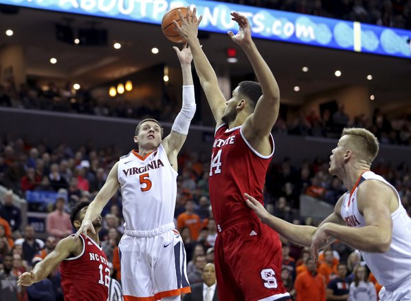 No. 3 Virginia halts NC State's streak of upset wins