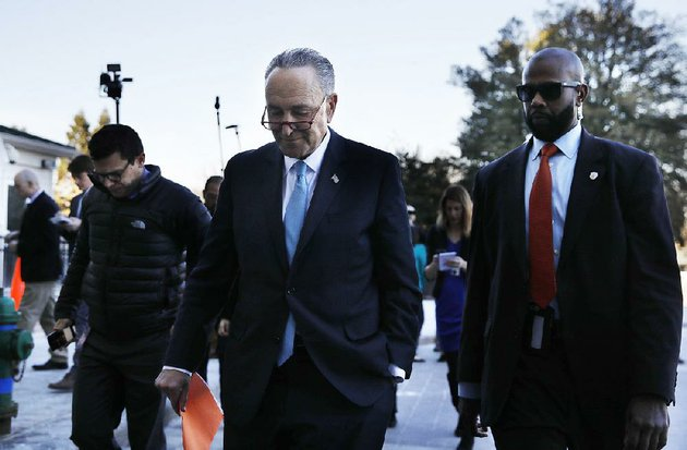 senate-minority-leader-charles-schumer-returns-to-capitol-hill-on-friday-after-meeting-with-president-donald-trump-at-the-white-house-in-a-failed-attempt-to-reach-a-deal-to-avoid-a-government-shutdown