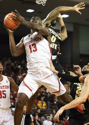 Houston forward Nura Zanna (13) scored four points while coming off the bench in Houston's 73-59 victory over No. 7 Wichita State on Saturday.