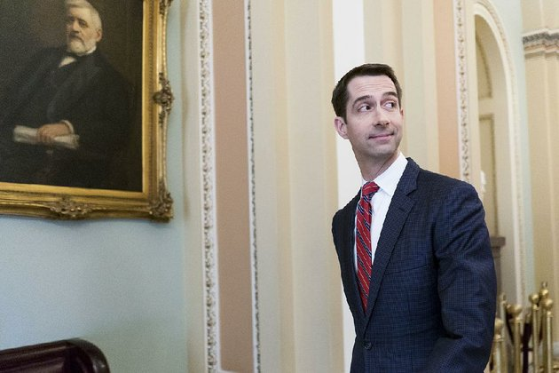 sen-tom-cotton-r-ark-at-the-capitol-in-washington-jan-19-2018-the-senate-is-heading-toward-a-showdown-vote-on-friday-on-legislation-to-keep-the-government-open-past-midnight-as-democrats-appear-ready-to-block-it-gambling-that-president-donald-trump-will-offer-concessions-in-the-face-of-a-crisis-erin-schaffthe-new-york-times