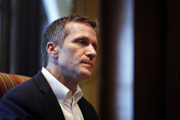 missouri-gov-eric-greitens-listens-to-a-question-during-an-interview-in-his-office-at-the-missouri-capitol-saturday-jan-20-2018-in-jefferson-city-mo-greitens-discussed-having-an-extramarital-affair-in-2015-before-taking-office-ap-photojeff-roberson