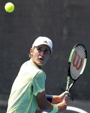 Sebastian Korda, the son of 1998 Australian Open champion Petr Korda, won his first-round matches Sunday in the boys singles and doubles matches at the Australian Open.
