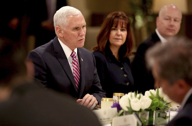 us-vice-president-mike-pence-and-his-wife-karen-pence-attend-a-lunch-hosted-by-jordans-king-abdullah-ii-at-the-husseiniyeh-palace-in-amman-jordan-sunday-jan-21-2018-ap-photoraad-adayleh