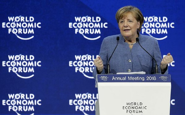 In Davos, Europe leaders warn against nationalism