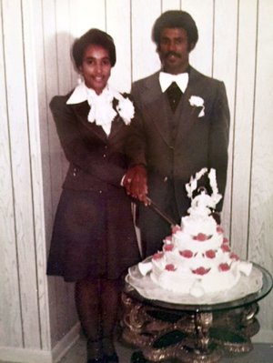 "Virginia Rhodes and Elton Taylor were married on Nov. 9, 1974. They met on the campus of Arkansas Agricultural, Mechanical and Normal College — now the University of Arkansas at Pine Bluff — in 1971. ""I didn't think he was my type — initially, that's what I thought,"" Virginia says. ""It turned out he was."""