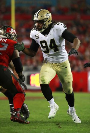 New Orleans Saints defensive end Cameron Jordan (94) gave Super Bowl tickets to 108-year-old Lawrence