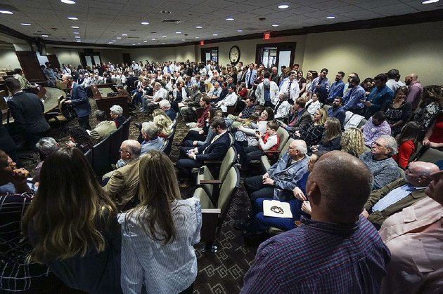 arkansas-pharmacists-and-supporters-jam-into-a-legislative-meeting-room-wednesday-in-little-rock-to-voice-concerns-about-reimbursement-rates-through-policies-sold-on-the-state-insurance-exchange