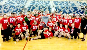 RICK PECK/SPECIAL TO MCDONALD COUNTY PRESS The McDonald County boys took first and the girls second at the Joplin Power Lifting Meet held Jan. 27 at Joplin High School.