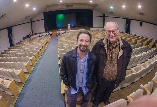 jeremy-clay-left-and-bob-padgett-reflect-on-the-history-of-love-auditorium-at-bryant-high-school-clay-the-schools-drama-teacher-will-direct-the-last-performance-in-the-auditorium-before-it-is-torn-down-to-make-room-for-a-new-fine-arts-center-and-other-buildings-padgett-was-a-member-of-the-bryant-school-district-when-the-auditorium-was-built-in-1984