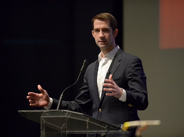 nwa-democrat-gazetteandy-shupe-sen-tom-cotton-speaks-saturday-feb-3-2018-during-the-annual-washington-county-republican-committee-lincoln-day-event-at-the-springdale-high-school-performing-arts-center