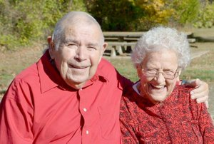 SUBMITTED PHOTO Billy Dee Osborn of Lincoln will celebrate this 90th birthday on Feb. 11 at First Baptist Church in Lincoln. As a 6-week-old baby, he survived the April 4, 1928, tornado that hit Lincoln. He and his wife, Evonne, have been married 67 years.