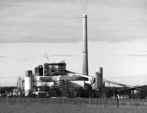 Westside Eagle Observer/RANDY MOLL Flint Creek Power Plant is a landmark in the Gentry area. It is here pictured on a cold January day.