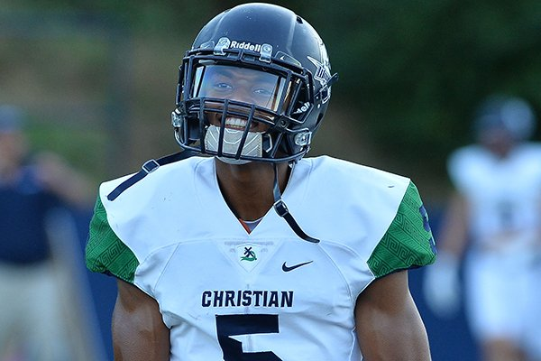 Little Rock Christian's Justice Hill is committed to play basketball at Arkansas, but is beginning to garner attention from SEC football programs as well.