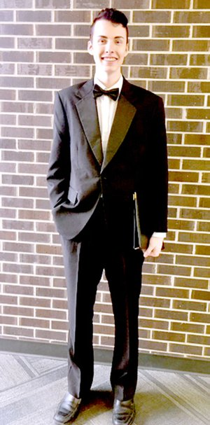 Scott Franks, representing McDonald County and the Southwest District, performs in All State Choir presentation on Jan. 27 in Osage Beach, Mo.
