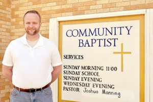 RACHEL DICKERSON/MCDONALD COUNTY PRESS Joshua Manning, pastor of Community Baptist Church in Noel, heads up a multilingual congregation.
