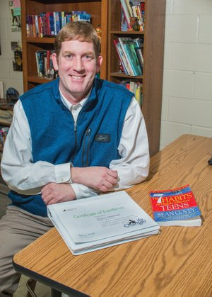 Bryant Middle School teacher Dustin Dearman has been nominated for the 2017-2018 LifeChanger of the Year award, sponsored by the National Life Group Foundation. Now in his fourth year of teaching at the school, Dearman helped start an advisory program based on the book The 7 Habits of Highly Effective Teens, by Sean Covey.