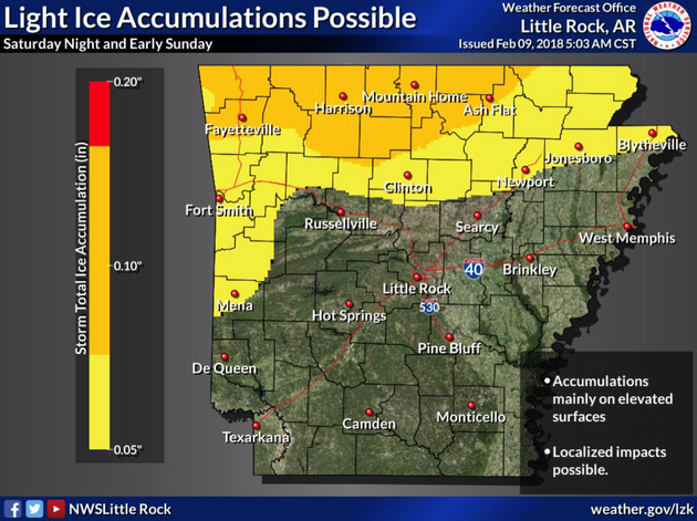 light-freezing-rain-could-result-in-slick-roads-for-parts-of-arkansas-this-weekend-according-to-the-national-weather-service-in-north-little-rock