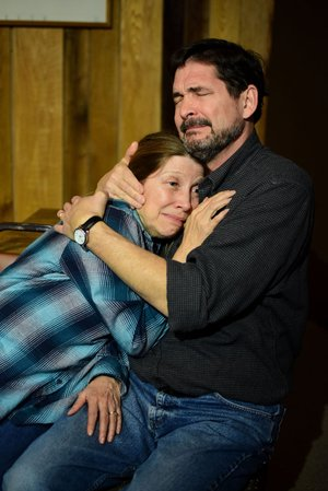 "Photo: Danielle Keller Terry Vaughan and Tim Gilster star in Kent Brown's ""In the Middle of Nowhere"" at the Ozark Mountain Smokehouse."