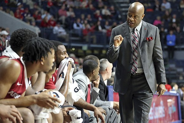 arkansas-forward-mike-anderson-celebrates-talks-to-players-during-the-teams-ncaa-college-basketball-game-against-mississippi-in-oxford-miss-tuesday-feb-13-2018-petre-thomasthe-oxford-eagle-via-ap