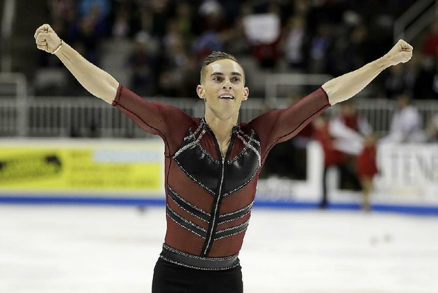 in-this-jan-4-2018-file-photo-adam-rippon-performs-during-the-mens-short-program-at-the-us-figure-skating-championships-in-san-jose-calif