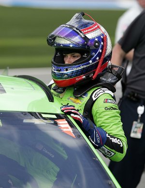 Danica Patrick climbs from her car Sunday after time trials for the Daytona 500. Sunday's 500 will be Patrick's final NASCAR start, leaving 44-year-old Jennifer Jo Cobb (Truck Series) as the only female driver in the NASCAR's three top series.