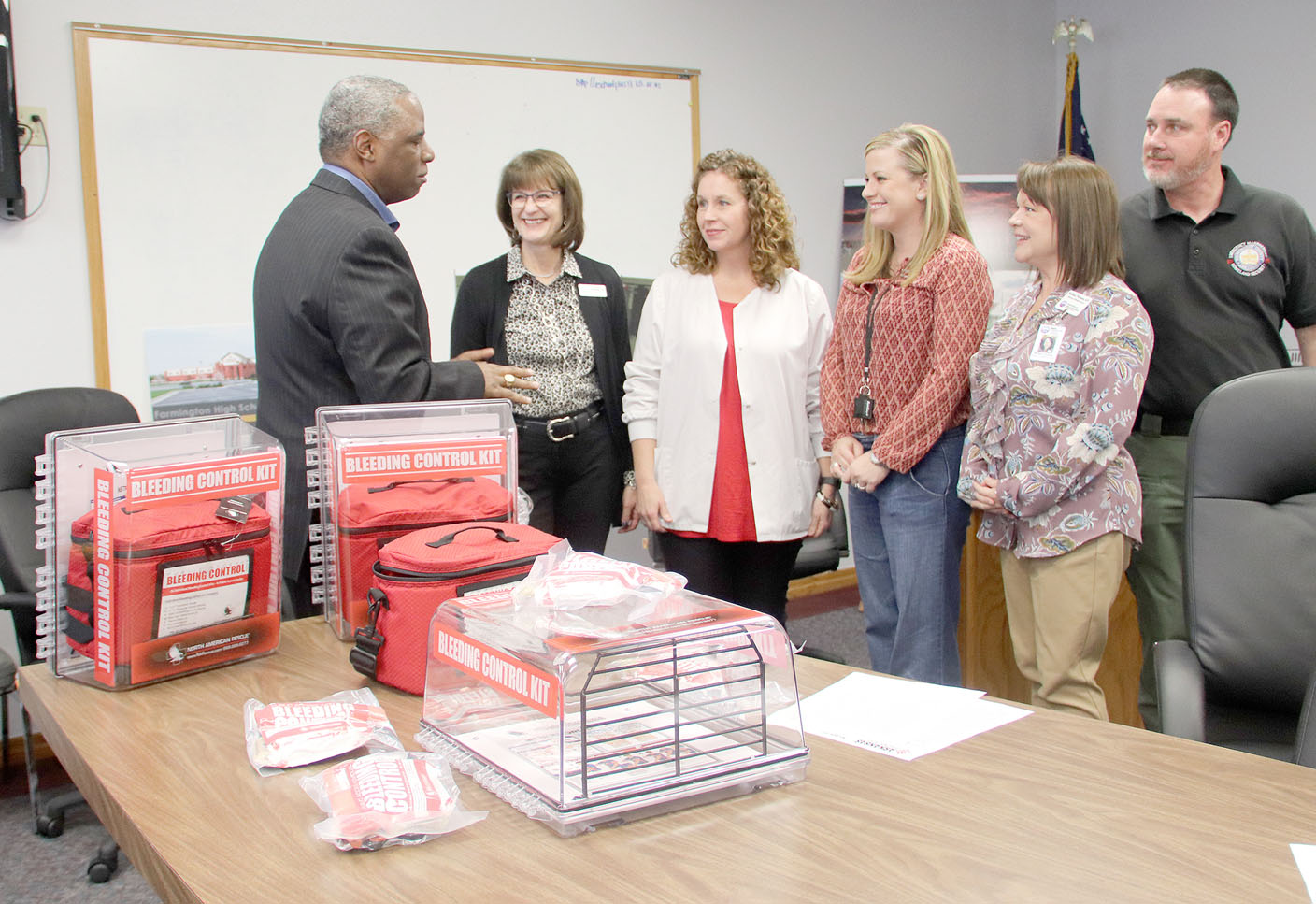 Schools receive medical kits to stop bleeding