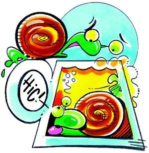 Arkansas Democrat-Gazette snail illustration