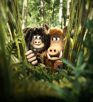 The idyllic, easygoing existences of Dug (voice of Eddie Redmayne) and his faithful sidekick Hognob (voiced by director Nick Park) are challenged when they encounter a tribe that has discovered metallurgy and sports in Aardman Animations' Early Man.