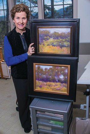 Hot Springs Village artist Shirley Anderson will participate for the first time in the Delta Visual Arts Show in Newport, which is celebrating its 10th anniversary. She creates paintings such as these at her home studio.