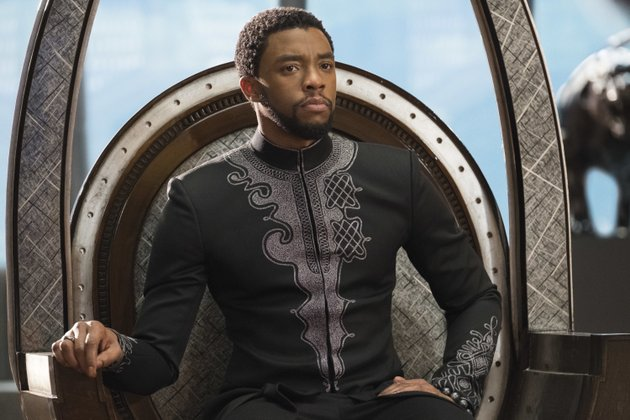 this-image-released-by-disney-shows-chadwick-boseman-in-a-scene-from-marvel-studios-black-panther-the-walt-disney-co-estimated-saturday-feb-17-2018-the-marvel-comics-superhero-movie-earned-758-million-domestically-for-its-opening-friday-the-eighth-biggest-day-in-industry-history-matt-kennedymarvel-studios-disney-via-ap