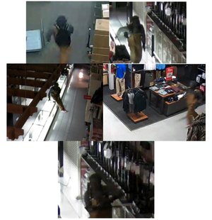 Police released these surveillance images showing a man suspected of breaking into the Academy Sports in west Little Rock and stealing at least one gun.