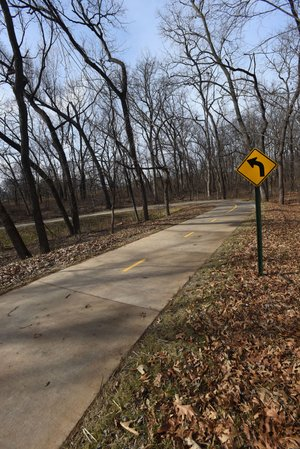NWA Democrat-Gazette/FLIP PUTTHOFF A sweeping curve seen Wednesday Feb. 14 2018 on the Trail of Two Cities. The trail runs between Rogers and Bentonville.
