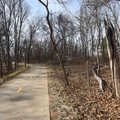 Trail of Two Cities meanders through woods, seen here Feb. 14, and urban areas in Bentonville and Ro...